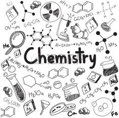 Chemistry science theory and bonding formula equation, doodle handwriting and tool model icon in white isolated background paper used for school education and document decoration, create by vector - buy this vector on Shutterstock & find other images. Doodle Drawings, Easy Drawings, Doodle Art, Science Drawing, Science Art, Science Education, Biology Drawing, Science Quotes, Elementary Science