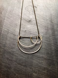 Art Deco Geometric Hammered Gold Small by LoopHandmadeJewelry, $58.00