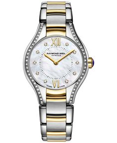 Raymond Weil Women's Swiss Noemia Diamond Accent Two-Tone Pvd Stainless Steel Bracelet Watch 24mm 5124-stp-00985