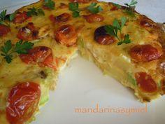 mandarinas y miel : Frittata de verduras y queso de cabra. #TSViajeroItalia