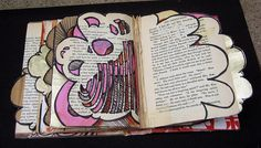 "Altered Book: ""Buddha Book Vol. 1"" by Erin Fitzpatrick.    An entry in the Enoch Pratt Free Library's 2009 Altered Book competition."