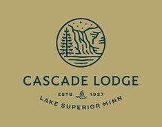 Cascade Lodge designed by Leslie Olson. Connect with them on Dribbble; Logo Branding, Branding Design, Bakery Branding, Hill Logo, Nautical Logo, Festival Logo, Yoga Festival, Family Logo, Crest Logo
