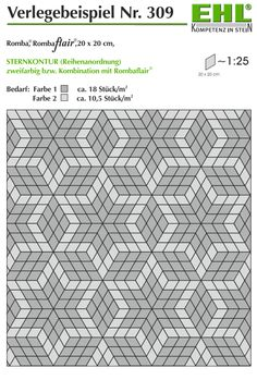 Pflasterstein Rhombenförmig, in Sternmuster verlegt Contemporary, Rugs, Home Decor, Creative Products, Outdoor Pavers, Stars, Pattern, Homemade Home Decor, Types Of Rugs