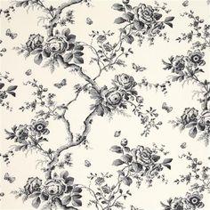 Ashfield Faille Floral - Ralph Lauren - Carbon
