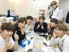 BTS JAPAN OFFICIAL [170602]  Trans @BTS_jp_official :    We were invited by #YoshimotoShinkigeki, it was really fun. How were the jokes that we have prepared? We are happy to have met A.R.M.Ys and lot's of others at a new place#BTS (in Japanese) #BTS    (T/N: Yoshimoto Shinkigeki is a comedy theater.)