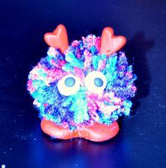 Little love bug. Pom pom & Fimo.