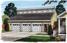 Contemporary Garage Plan 30012 - A photo Studio above a double garage! 3 Car Garage Plans, Garage Plans With Loft, Loft Plan, Garage Loft, Garage Ideas, Garage Studio, Barn Garage, Garage Shop, Garage House