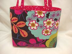 Handmade Fabric Organizer Tote or Storage Bin or by BagsOfaFeather, $21.00