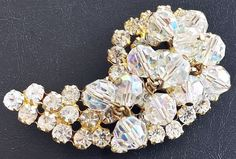 Juliana Brooch Pin Confirmed D&E Clear by BrightgemsTreasures, $49.50