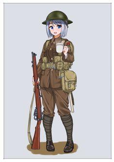 Anime Military, Military Girl, Fantasy Comics, Anime Fantasy, Comic Pictures, Manga Pictures, Military Archives, Valkyria Chronicles, Alternate History