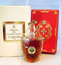 Champs-Elysees: Created in 1904 by Jacques Guerlain.    Turtle shaped bottle created by Baccarat ( flacon design # 284)  to hold extraits of Le Parfum des Champs Elysees, by Guerlain