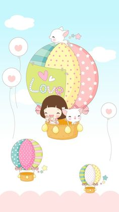 Image shared by 𝐆𝐄𝐘𝐀 𝐒𝐇𝐕𝐄𝐂𝐎𝐕𝐀 👣. Find images and videos about girl, love and cute on We Heart It - the app to get lost in what you love. Baby Embroidery, Free Motion Embroidery, Cute Cartoon Wallpapers, Cartoon Pics, Ballon Drawing, Drawing For Kids, Art For Kids, Hot Air Balloon Cartoon, Preschool Art