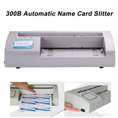 Automatic name card slitter cutter business name card cutting 300b automatic name card slitterbusiness card cutting machinename card cutter reheart Images
