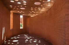 Clay Pots Embedded In The Roof Of The Gando School Library Create A Beautiful Low Tech Dappled Light Effect. Image Courtesy of Kere Architecture Architecture Images, Vernacular Architecture, Architecture Student, Beautiful Architecture, Contemporary Architecture, Architecture Details, Building Architecture, Francis Kere, Interior Natural