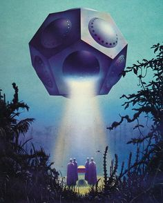 Old favourite repost - painting by Tim White 'Rogue Golem' 1978, (author:  Ernest M. Kenyon). Image from the book The Science Fiction and Fantasy World of Tim White (1981) #timwhite #scifiart #sciencefiction #bookcover