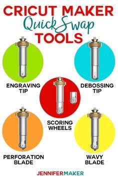 New Cricut Maker Tools Engraving Debossing Perforating Wavy Edging Jennifer Maker Maker Tools Cricut Blades Cricut Supplies