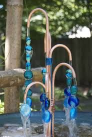 Image result for water feature steel/copper pipes