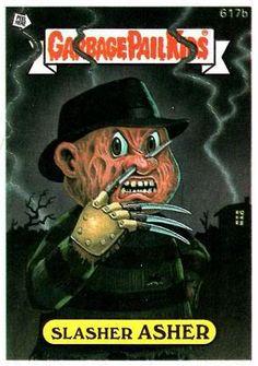 Garbage Pail Kid's Version Of Freddy Krueger