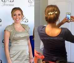 5-minute updo hair tutorial, plus red carpet look in 30 minutes, on a SERIOUS dime! From FunCheapOrFree.com