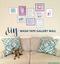 Washi tape gallery wall www.evelynhenson.com