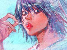 L Lawliet, Death Note, Anime Boys, Disney Characters, Fictional Characters, Disney Princess, Art, Art Background, Kunst