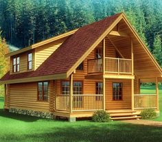 Cabin Plans, Log Cabin Plans, Log Home Plans and Log Cabin Floor Plans that fit into every lifestyle and budget from Southland Log Homes. Find yours today! Log Cabin Floor Plans, Log Home Plans, House Floor Plans, Small Log Cabin, Log Cabin Homes, Log Cabins, Log Home Designs, Mountain House Plans, Cabins And Cottages