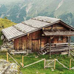 Seewiesen Alm, an alpine cabin for shepherds in Osttirol, Debanttal, Austria.  Contributed by Marian Kröll.  #cabinporn
