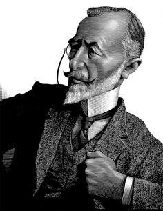 Joseph Conrad - Scratchboard Illustrations by Mark Summers | Inspiration Grid | Design Inspiration