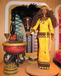Kwanzaa Barbie Doll   A Festivals of the World Pink Label Barbie Doll at Toy Fair 2006