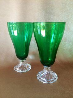 Boopie Glasses Emerald Green Ice Tea Glass Burple by DotnBettys