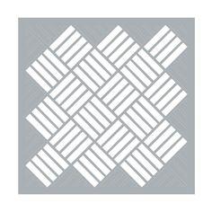 Pochoir décoratif Home deco 45.7x45.7 cm Tressage Géométrique x1