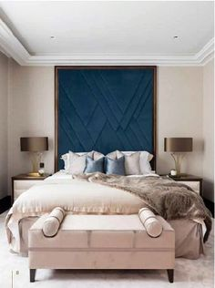 Get great and unique headboard ideas. Browse these beautiful photos to find a headboard fit for your room. decor bedroom headboard Headboard Ideas Artistic Inspiration For Your Trendy - BIFAHOME Upholstered Wall Panels, Trendy Bedroom, Bedroom Modern, Modern Bedroom Furniture, Accent Furniture, Luxurious Bedrooms, Bed Design, King Design, Design Hotel