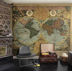 Antieke landkaart als uniek fotobehang