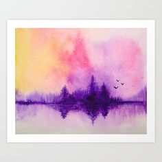 Buy Purple Forest Art Print by ahmadillustrations. Worldwide shipping available at Society6.com. Just one of millions of high quality products available.