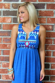 On A Cloudy Day Dress: Blue