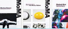 MoMA Identity System by Pentagram Marlene Dumas, Signage Design, Flyer Design, Graphic Design Layouts, Design Art, Layout Design, Graphic Art, Museum Branding, Retro Design