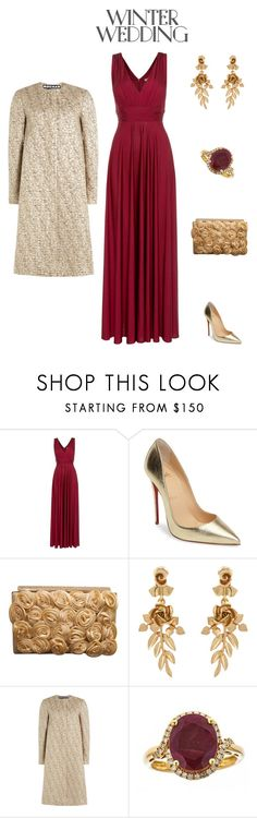 """""""True Romance: Winter Wedding Contest"""" by style-by-shannon-leeper ❤ liked on Polyvore featuring Biba, Christian Louboutin, Oscar de la Renta, Rochas, Anika and August and winterwedding"""