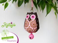 """Eule """"Hedwig"""" (nr. 044) – Ein Eulchen der besonderen Art. Akzente in rosa, pink und rosarot zeichnen die Sonder-Edition aus. Es herrscht """"Rosamanie""""!"""