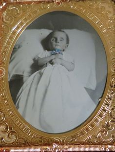 Antique Post-Mortem Tinted Ambrotype of a by OldDominionOddities
