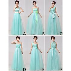 Mix+&+Match+Dresses+Floor-length+Tulle+and+Lace+6+Styles+Bridesmaid+Dresses+(3227689)+–+USD+$+49.99