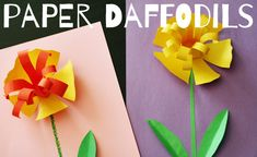 Make pretty paper daffodils for Spring!