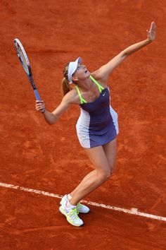 Masha serving for the win at French Open 2013