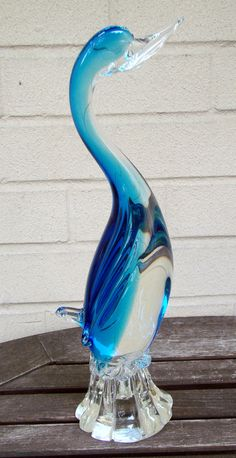 Gorgeous Murano Glass Bird Made in Italy by AntiqueAlchemists, $110.00