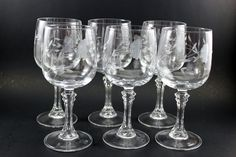 Bordeaux Wineglasses (6) - Heritage pattern In excellent pre-owned condition Made in France No chips, cracks or damage