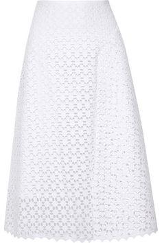 ErdemMina broderie anglaise cotton skirt  #Erdem