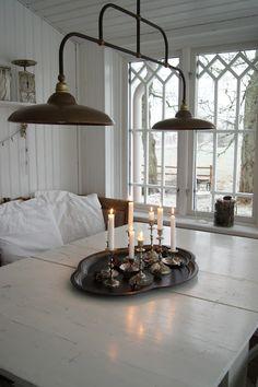 vintage looking galvanized light fixture Home Goods Decor, Home Decor, Scandinavian Interior, Scandinavian Style, Vintage Decor, Decoration, Home Kitchens, Light Fixtures, Sweet Home