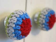 Cosmos and Cotton door knobs covers, no pattern