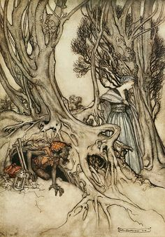 Arthur Rackham Week Friday is Comus by John Milton published 1922 - 10