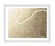 Cake kitchen paper blueprint paper paper placemats carol and kansas city map foil pressed art print by griffinbell paper co malvernweather Choice Image