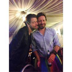 Misha Collins and Rob Benedict